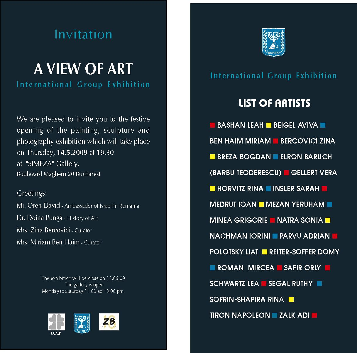 Art Show Invitation as perfect invitations template
